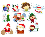 Christmas, Holiday, and winter vector set Royalty Free Stock Images