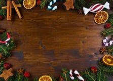 Christmas Holiday wood Background Stock Image