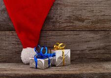 Christmas holiday wooden background stock images