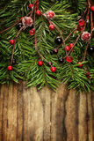 Christmas holiday wooden background Royalty Free Stock Images