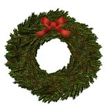 Christmas holiday wreath. An isolated on white wreath Royalty Free Stock Photos