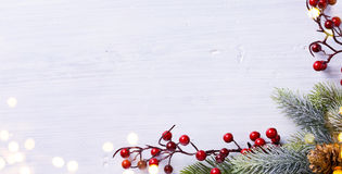 Christmas holidays composition on white background with copy spa Royalty Free Stock Photo