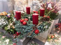 Christmas holidays in Hamburg. Christmas Decorative Decoration for Home and Office Royalty Free Stock Photo