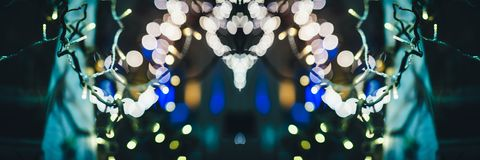 Christmas Market defocused bokeh light Royalty Free Stock Photography