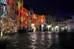 Christmas holidays in Lucca Royalty Free Stock Image