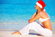 Christmas holidays on Maldives Royalty Free Stock Photography