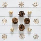 Christmas holidays minimal background. Christmas decoration and Royalty Free Stock Image
