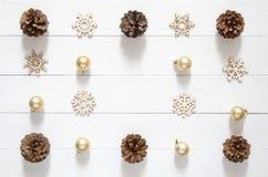 Christmas holidays minimal background. Christmas decoration and Stock Photography