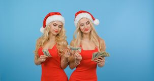 Christmas Holidays money sharing with a partner.