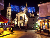 Christmas holidays in Paris stock image
