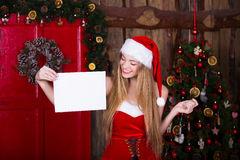 Christmas, holidays and people concept - smiling Stock Photo