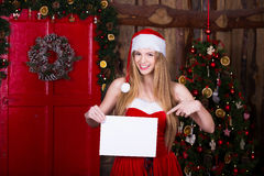 Christmas, holidays and people concept - smiling Stock Photography