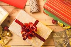 Christmas and Holidays. Presents. Stock Photos