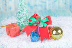 Christmas, holidays, presents, new year and celebration concept Stock Photography