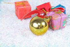 Christmas, holidays, presents, new year and Royalty Free Stock Image