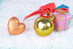 Christmas, holidays, presents, new year and Stock Photography