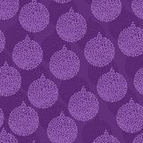 Christmas and Holidays seamless pattern with balls Stock Images