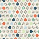 Christmas and Holidays seamless pattern with balls Royalty Free Stock Image