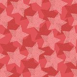 Christmas and Holidays seamless pattern with stars.  Royalty Free Stock Photos