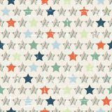 Christmas and Holidays seamless pattern with stars Stock Photos