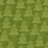 Christmas and Holidays seamless pattern with trees Stock Image
