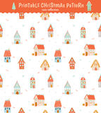 Christmas holidays seamless pattern Stock Images