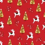 Christmas holidays seamless repeat vector pattern vector illustration