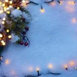 Christmas holidays  snow background Royalty Free Stock Image