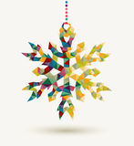 Christmas holidays triangle snowflake background Stock Images