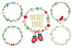 Christmas Holidays Wreaths Frame Vector Royalty Free Stock Photos