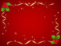 Christmas Holly. Elegant red background. Christmas Holly. Vector illustration Royalty Free Stock Photo
