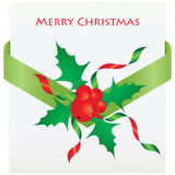 Christmas Holly. For your gift Royalty Free Stock Photos
