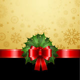 Christmas holly background Royalty Free Stock Photography