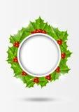 Christmas holly background Stock Photos