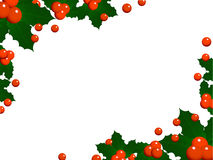 Christmas holly background Stock Photo