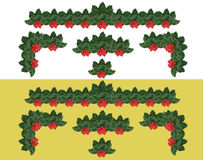 Christmas Holly Banner Stock Image
