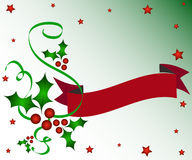 Christmas holly banner Royalty Free Stock Photos