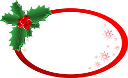 Christmas Holly banner. Christmas vector holly ornament with a space for text message Stock Photography