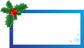 Christmas Holly banner. Christmas vector holly ornament with a space for text message Stock Photo