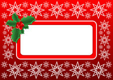 Christmas Holly banner. Vector illustration - Christmas banner with a space for text message Royalty Free Stock Photo