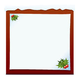 Christmas Holly Banner Royalty Free Stock Images