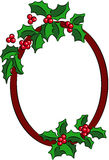 Christmas Holly banner Royalty Free Stock Image
