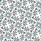 Christmas holly berries seamless pattern. Xmas vector illustration Stock Photography