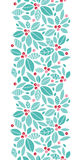 Christmas holly berries vertical seamless pattern Stock Photography