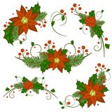 Christmas holly berry icon collection. Vector Royalty Free Stock Photography