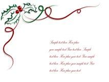 Christmas holly Royalty Free Stock Image