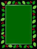 Christmas holly border. Christmas/holiday background / border with holly and berries. vector format available Stock Photos