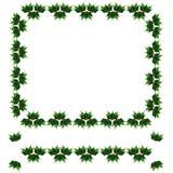 Christmas holly border. Beautiful christmas holly frame/ border Stock Photos