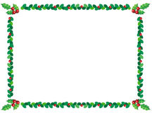 Christmas holly border Stock Photography
