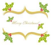 Christmas holly border Stock Image